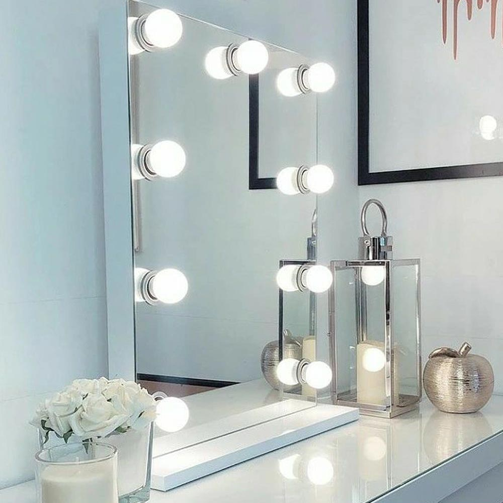 Işıklı Makyaj Aynası Çerçevesiz 60x80